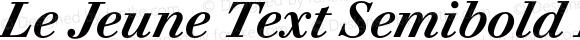 Le Jeune Text Semibold Italic