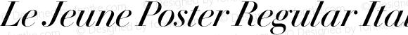 Le Jeune Poster Regular Italic