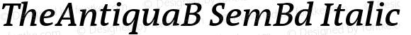 TheAntiquaB SemBd Italic 001.000