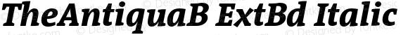 TheAntiquaB ExtBd Italic 001.000