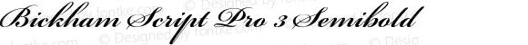 Bickham Script Pro 3 Semibold