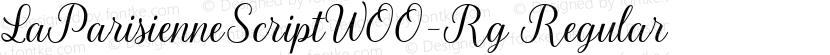 LaParisienneScriptW00-Rg Regular Preview Image