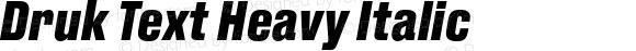 Druk Text Heavy Italic
