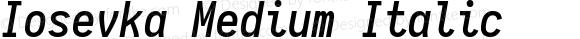 Iosevka Medium Italic 1.9.1