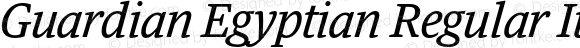 Guardian Egyptian Regular Italic