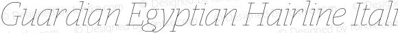 Guardian Egyptian Hairline Italic