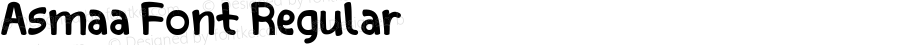 Asmaa Font Regular Version 1.001;PS 001.001;hotconv 1.0.70;makeotf.lib2.5.58329