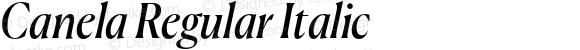 Canela Regular Italic