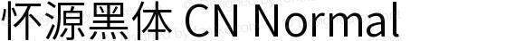怀源黑体 CN Normal