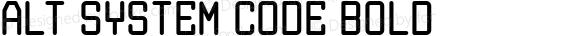 Alt System Code Bold Version 1.00