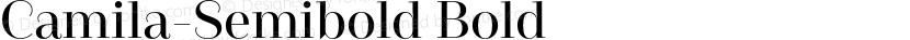 Camila-Semibold Bold Preview Image