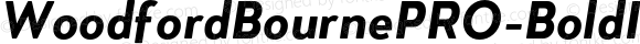 WoodfordBournePRO-BoldItalic Bold Italic