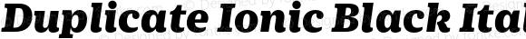 Duplicate Ionic Black Italic