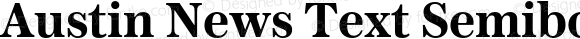 Austin News Text Semibold