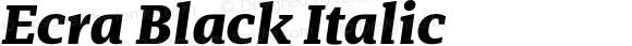 Ecra Black Italic