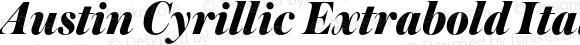 Austin Cyrillic Extrabold Italic