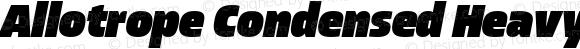 Allotrope Condensed Heavy Italic