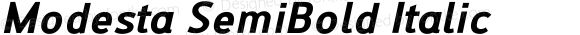 Modesta SemiBold Italic