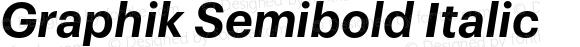 Graphik Semibold Italic