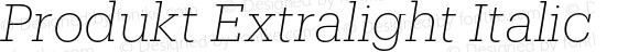Produkt Extralight Italic