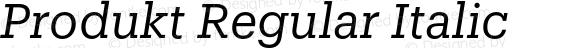 Produkt Regular Italic