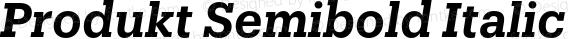 Produkt Semibold Italic