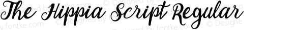 The Hippia Script Regular Unknown
