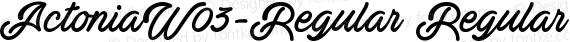 ActoniaW03-Regular Regular preview image