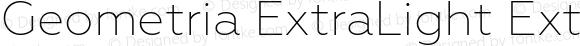 Geometria ExtraLight ExtraLight Version 1.002
