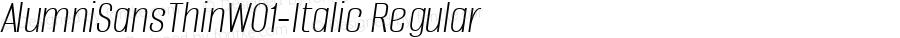 AlumniSansThinW01-Italic Regular Version 1.00