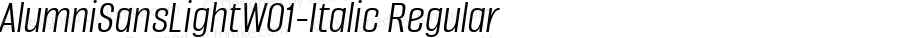 AlumniSansLightW01-Italic Regular Version 1.00