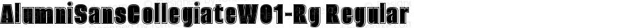 AlumniSansCollegiateW01-Rg Regular Version 1.00