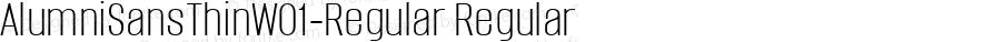 AlumniSansThinW01-Regular Regular Version 1.00