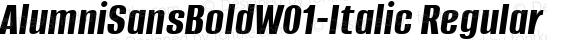 AlumniSansBoldW01-Italic Regular Version 1.00