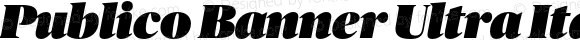 Publico Banner Ultra Italic