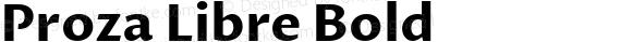 Proza Libre Bold Version 1.000; ttfautohint (v1.4.1.8-43bc)