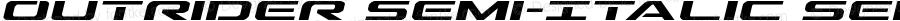 Outrider Semi-Italic Semi-Italic Version 2.00 July 14, 2016