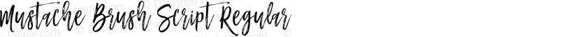 Mustache Brush Script Regular Preview Image