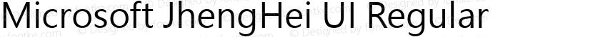 Microsoft JhengHei UI Regular Preview Image