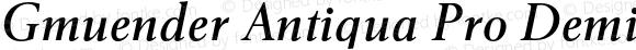 Gmuender Antiqua Pro Demi Italic
