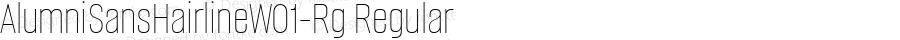 AlumniSansHairlineW01-Rg Regular Version 1.00