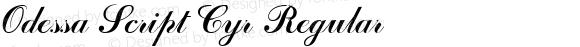 Odessa Script Cyr Regular Altsys Fontographer 3.5  6/26/92