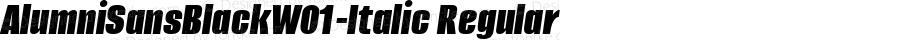 AlumniSansBlackW01-Italic Regular Version 1.00