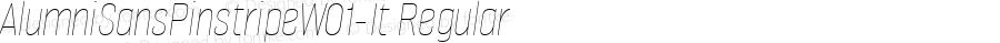 AlumniSansPinstripeW01-It Regular Version 1.00