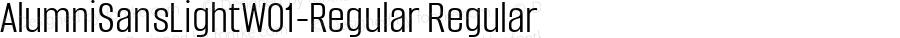 AlumniSansLightW01-Regular Regular Version 1.00