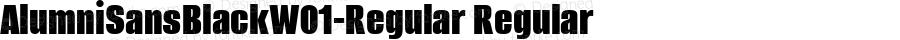 AlumniSansBlackW01-Regular Regular Version 1.00