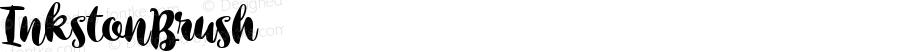 InkstonBrush ☞ Version 1.000;PS 001.000;hotconv 1.0.88;makeotf.lib2.5.64775;com.myfonts.easy.fenotype.inkston.brush.wfkit2.version.4BNH