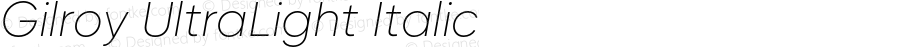 Gilroy-UltraLightItalic