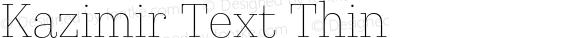 Kazimir Text Thin