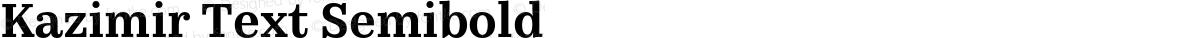 Kazimir Text Semibold